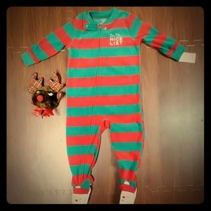 NWT Carter's Red & Green Christmas Pajamas